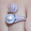 South Sea perle ring soelv