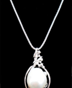 South sea perle 22 k hvidguld