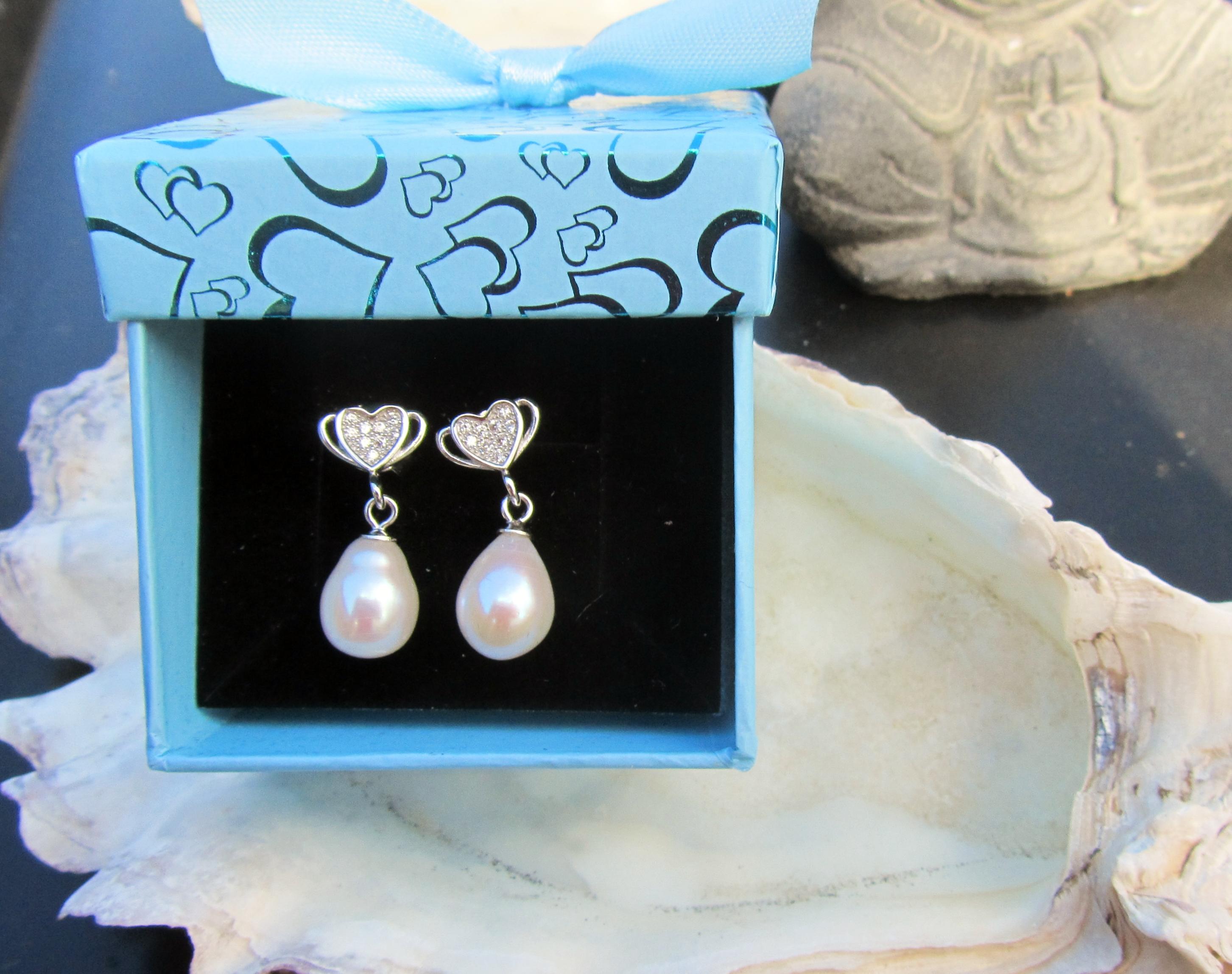 perleørering sølv