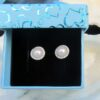 zirkonia perle sølv